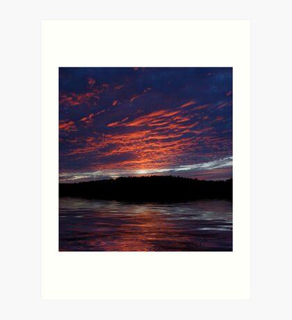 Mountain Lake Sunset Art Print