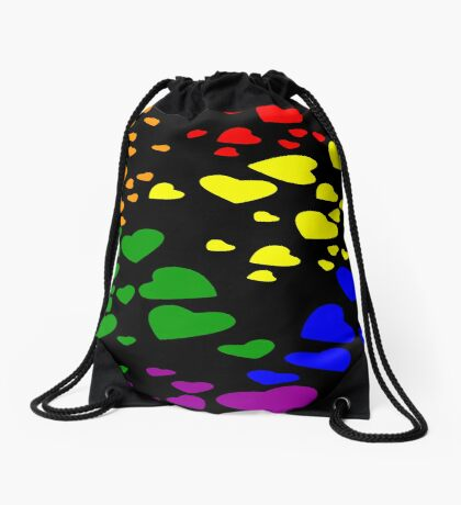 Love is Love Diversity Hearts Drawstring Bag
