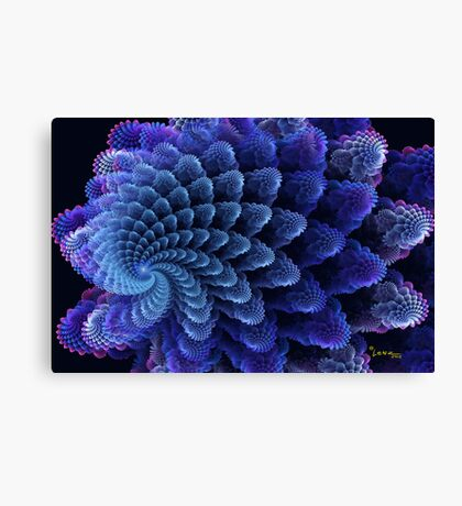 Colorful Swirling Shells Canvas Print