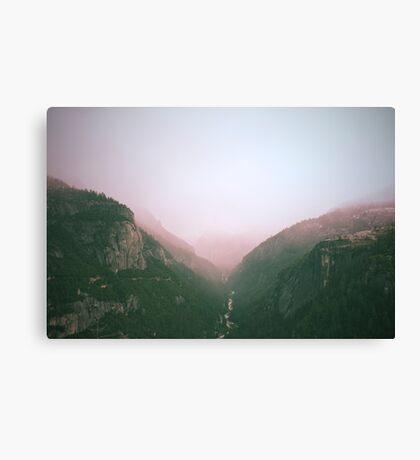 Fog in the Yosemite Park Canvas Print