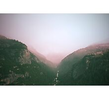 Fog in the Yosemite Park Photographic Print