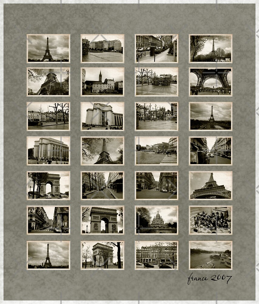 France 2007 Vintage Contact Sheet by Ewan Arnolda