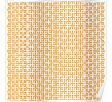 Peach and White Geometric Squares Poster