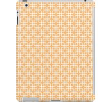 Peach and White Geometric Squares iPad Case/Skin