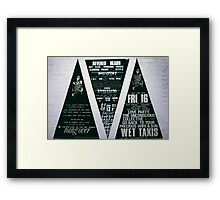 Three big triad posters for The Return of the Art Bunker Hangover  Framed Print