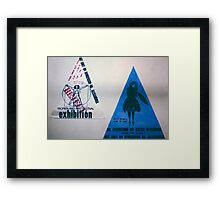 two small triad posters Framed Print