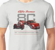 Alfa Romeo 8C Old and New Unisex T-Shirt