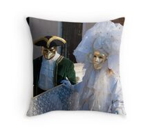 Masks again Throw Pillow