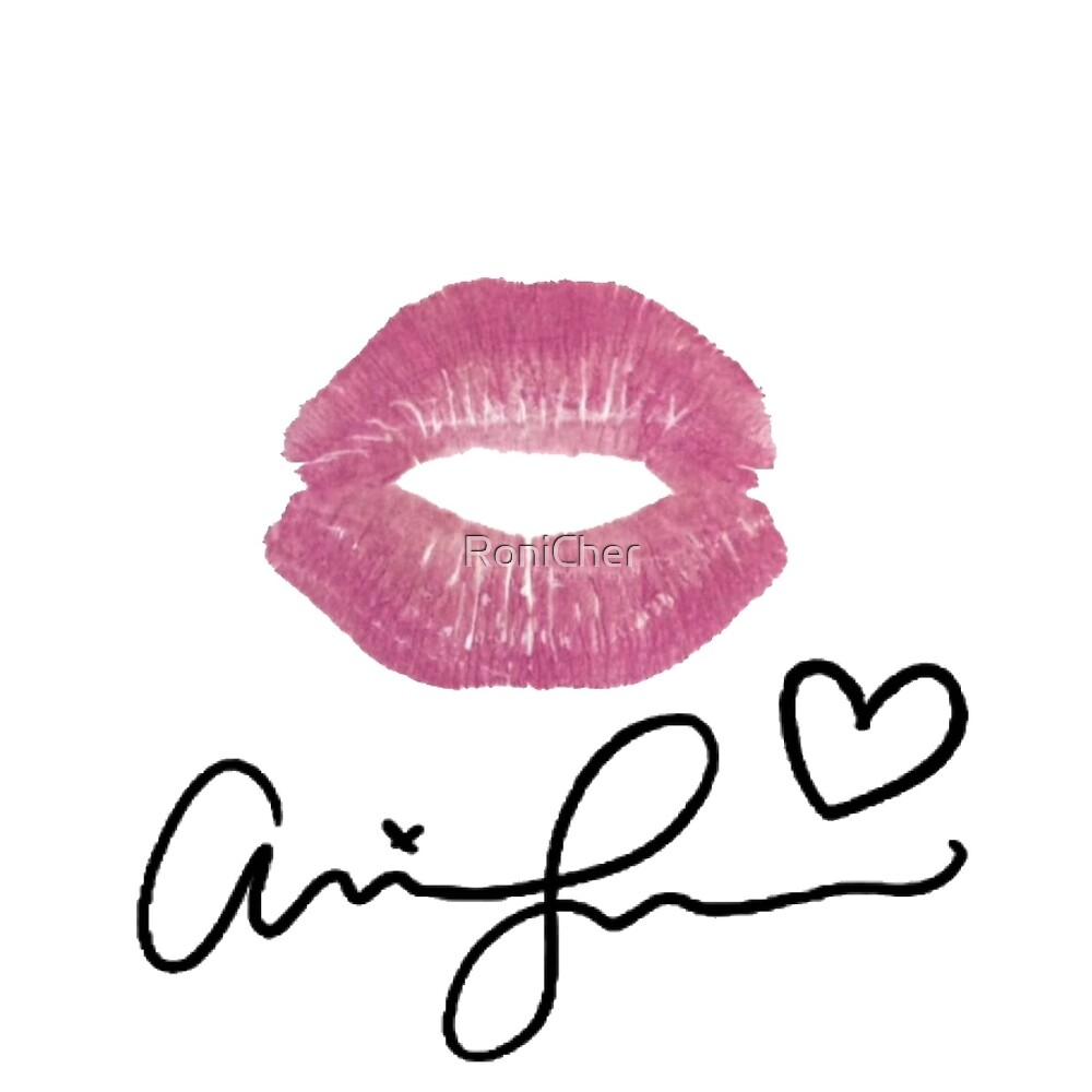 Quot Ariana Grande Signature Lips Quot By Ronicher Redbubble