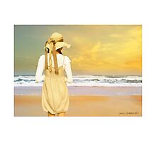 The Girl and  The Sea Photographic Print