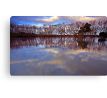 """Reflections at Evandale"" Canvas Print"