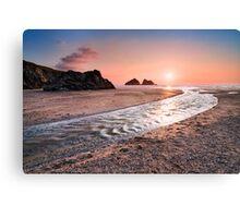 Cornwall - Holywell Beach Canvas Print