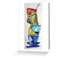 Cups Greeting Card