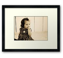 bundle of innocence Framed Print