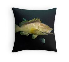 Cod Yawning Throw Pillow