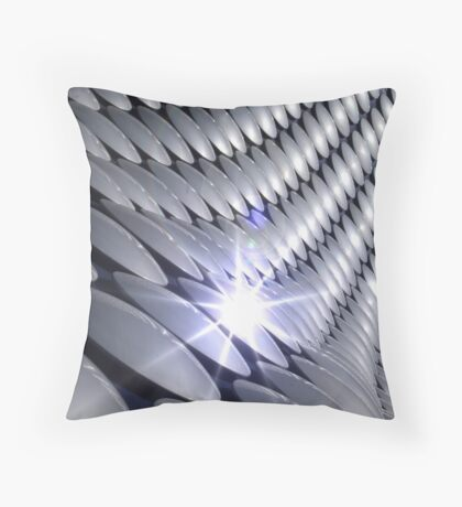 Silver Disc Throw Pillow