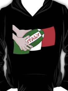 Italy Rugby Ball Flag T-Shirt