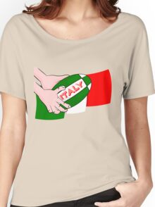 Italy Rugby Ball Flag Women's Relaxed Fit T-Shirt