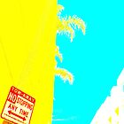 yellow palm pop art demo  by shannonybaloney