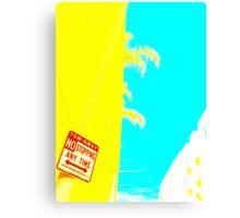 yellow palm pop art demo  Canvas Print