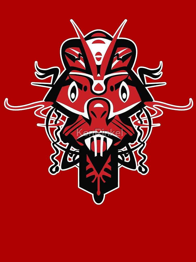 SHAMAN MASK – angry red by KenRinkel