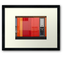 Het 4e Gymnasium - wood, wall panels, windows (1) Framed Print
