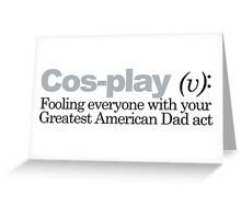 Cosby - Cosplay Greeting Card