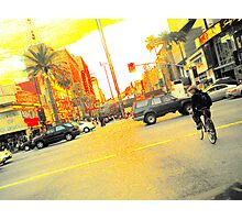 pixel-y hollywood intersection Photographic Print