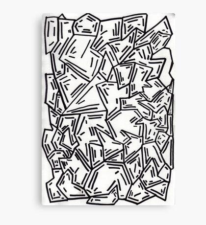 Crumpled Dashes Canvas Print