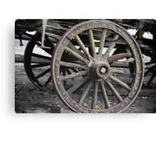 Raw Chariot Wheel Canvas Print