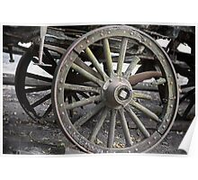 Raw Chariot Wheel Poster