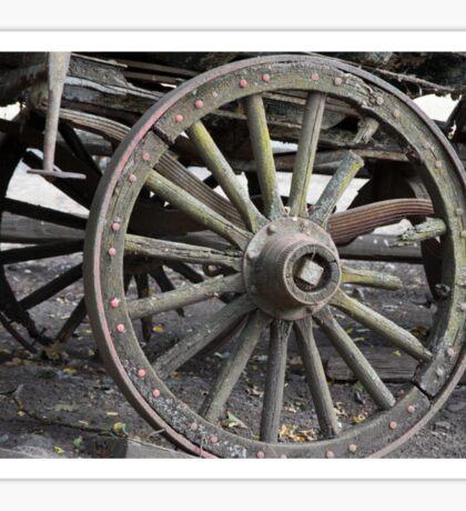 Raw Chariot Wheel Sticker