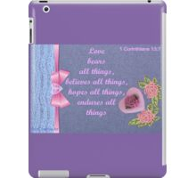 A love card with a verse  iPad Case/Skin