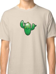 Green cactus with cute smile Classic T-Shirt