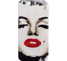 Marilyn in White iPhone Case/Skin