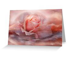Time To Say Goodbye Rose - Print Greeting Card
