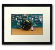 Edith's grasp of new technology is questionable; here she waits for her new Blackberry to ring. Framed Print