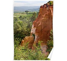 View from the Ochre Footpath in Roussillon Poster
