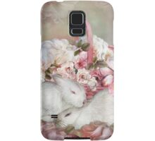 Easter Surprise - Bunnies And Roses Samsung Galaxy Case/Skin