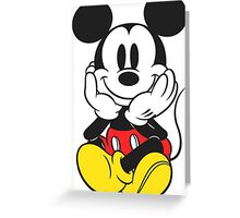 Mickey Mouse  Greeting Card