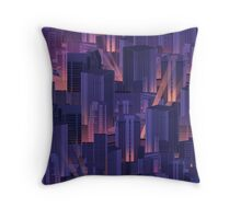 Midnight City Throw Pillow