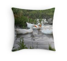 REDREAMING DUCK POND Throw Pillow