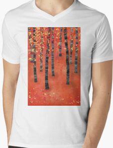 Birches Mens V-Neck T-Shirt