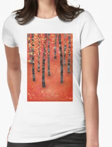 Birches Womens Fitted T-Shirt