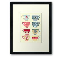 Tea Cups Framed Print
