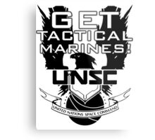 HALO - Get Tactical Marines! - UNSC Metal Print