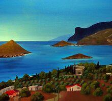 Porto Rafti from Kastro by Kostas Koutsoukanidis