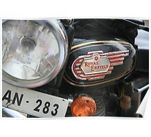 Royal Enfield Motorbike Poster