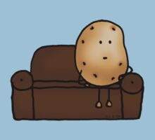 Funny couch potato cartoon Kids Clothes