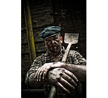 Hard Working Man Photographic Print